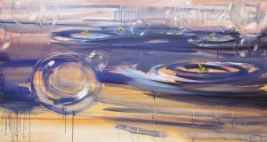 Mýdlový ostrov, 2012, olej na plátně, 89 x 168cm