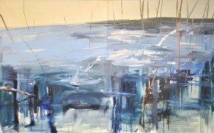 Sedm strážců Severní zátoky, 2009, olej na plátně 150x 300cm