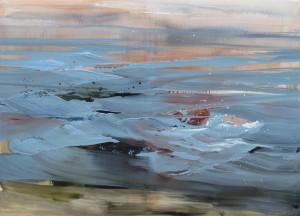Večerní řeka, 2012, olej na plátně, 150x210cm